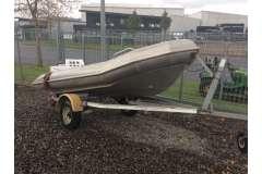 Aluminium pontoon with Mercury 25hp