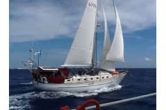 Passport 42.  Serious offshore cruising yacht