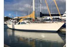 Dalzell 56 Auxiliary Sloop, strong and safe, built for purpose.