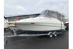A practical, comfortable trailer boat with a new trailer, great for overnight fishing and 'bay hopping' on the Hauraki Gulf!