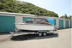 Hartley type trailer launch, late model Mercury outboard