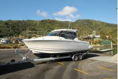 Jeanneau Merry Fisher 795 trailer launch, as new